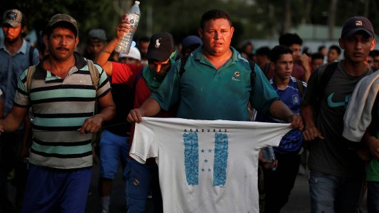 Migranten aus Mittelamerika erreichen Mexiko