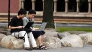 Sind sie noch willkommen? Asiatische Studenten auf dem Campus der Harvard University in Boston