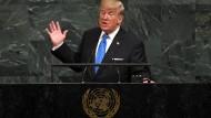 """Trump über Kim: """"Der Raketenmann ist auf einem selbstmörderischen Weg"""""""