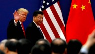Der amerikanische Präsident Donald Trump mit Chinas Staatschef Xi Jinping im November 2017 in Peking