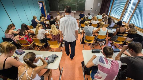 Zu kleine Räume für zu viele Schüler