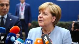 Merkel: Stehen hinter Zentralregierung in Madrid