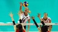 Volleyballerinnen erreichen Etappenziel