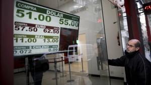 Argentiniens Börsenkurse stürzen nach Vorwahl ab