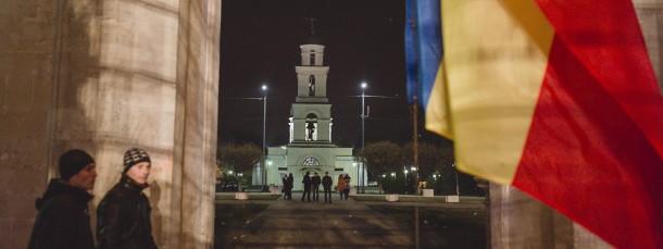 Am Scheideweg: Triumphbogen und Glockenturm im Zentrum Chisinaus