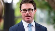 Australiens Landwirtschaftsminister David Littleproud (hier im April in Brisbane) knöpft sich den deutschen Discounter Aldi vor.