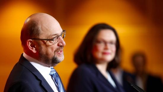 Schulz will SPD-Parteivorsitz an Nahles abgeben