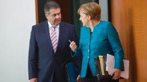 Merkel stellt sich hinter Gabriel
