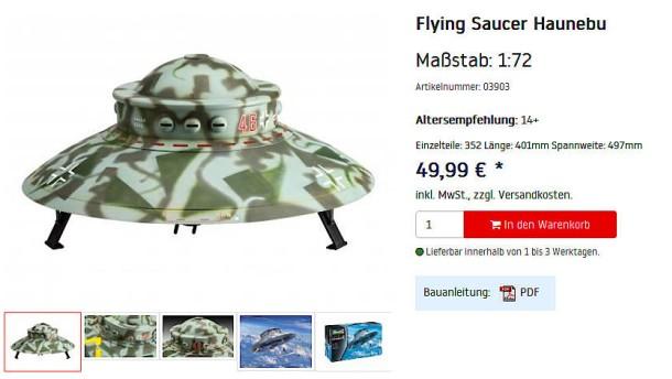 Ein fiktives Nazi-Ufo für die Kleinen