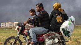 Kurden räumen Grenzstadt zur Türkei