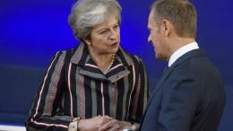 May: Brexit ist zu 95 Prozent geklärt