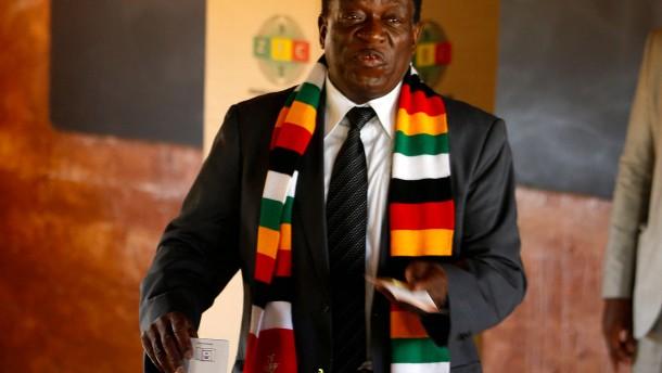 Staatschef Mnangagwa gewinnt Präsidentenwahl