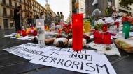 Gedenken an die Opfer des Anschlags in Barcelona