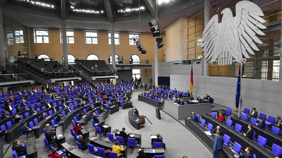 Der Deutsche Bundestag im November 2020