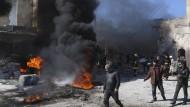 Schwere Gefechte nach Anschlag in Aleppo