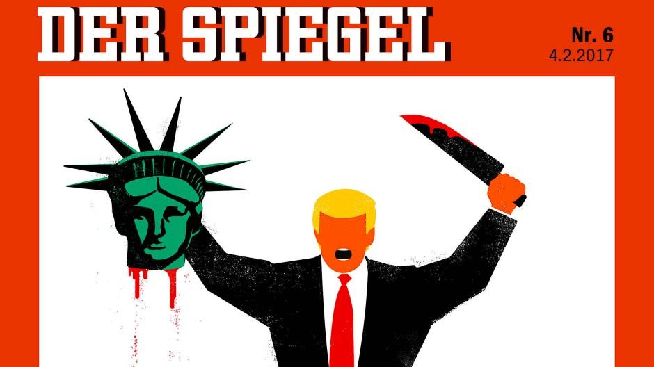 Spiegel-Titel provoziert mit Karikatur von Trump