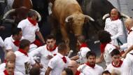 Drei Verletzte bei Stierlauf