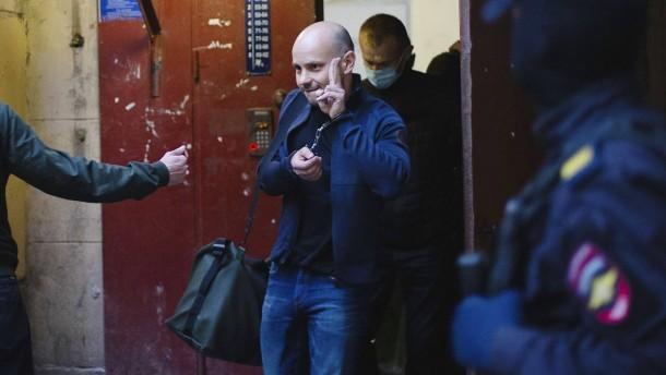 Russischer Oppositioneller im Flugzeug festgenommen