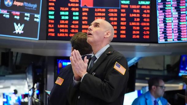Rasante Talfahrt an der Wall Street