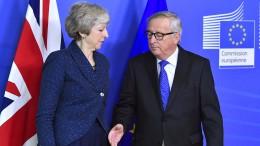 May am Mittwoch zu Brexit-Gesprächen in Brüssel