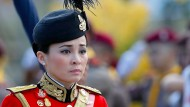 Die neue Königin Thailands bei einer royalen Zeremonie im April