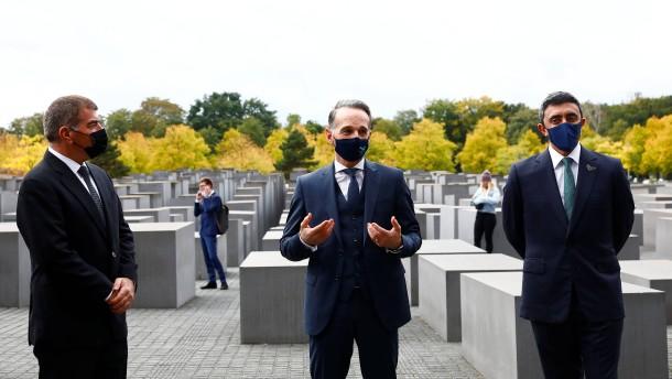 Historische Geste am Holocaust-Mahnmal