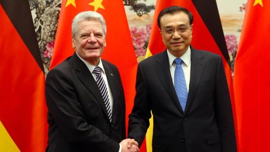 Gauck trifft chinesischen Regierungschef