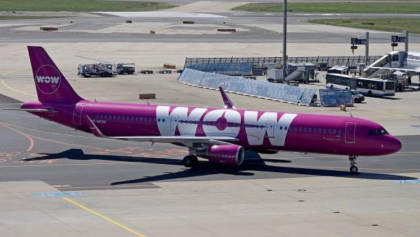 Billigflieger Wow Air stellt Betrieb ein