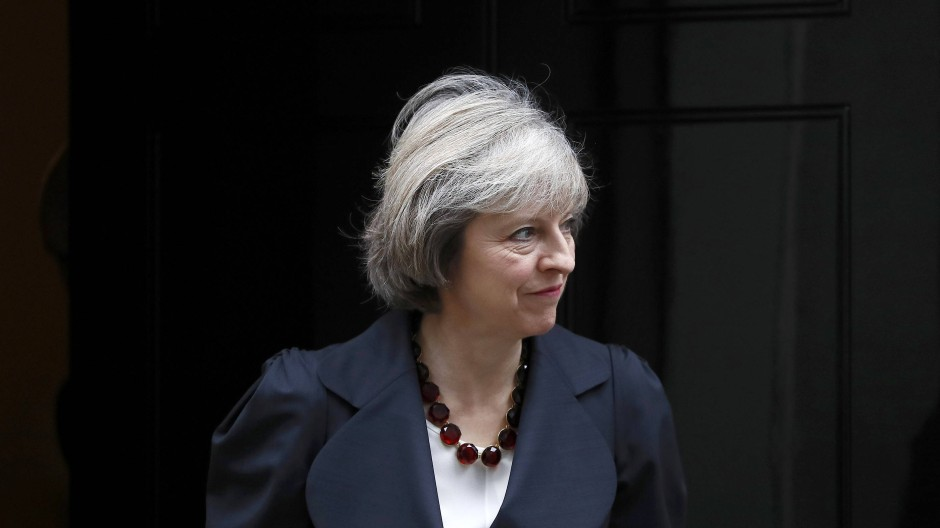 In der Downing Street: die britische Premierministerin Theresa May