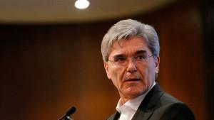 Der Siemens-Chef findet höhere Steuern gut