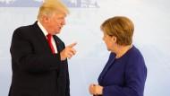 Wohin führt der Weg der Welt? Bislang waren sich Merkel und Trump darin nicht hundertprozentig einig.