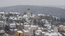 Schnee und Regen in Deutschland
