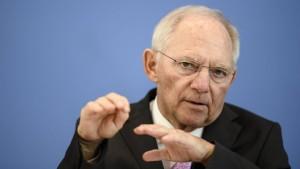 Schäuble mahnt bei Ausweitung der Eurozone zur Vorsicht