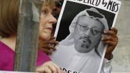 Protest für den saudischen Journalisten Jamal Khashoggi am Mittwoch in Washington