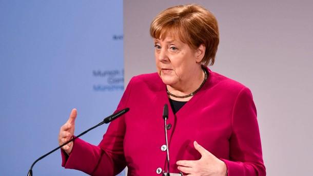 Merkel fordert China zu Mitwirkung bei Abrüstung auf