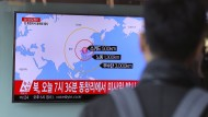 Berichterstattung über Nordkoreas Raketentest in Südkorea