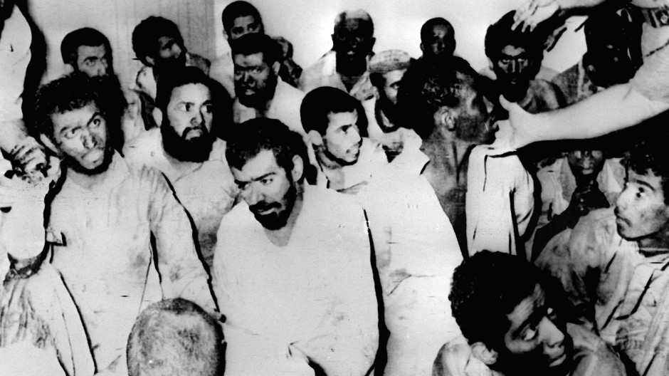 Die angeblichen Besetzer der Großen Moschee von Mekka 1979 nach Beendigung der Kämpfe