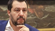 Sauer über einen Schlagerwettbewerb: Italiens Innenminister Matteo Salvini.