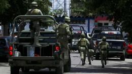 Mexikanisches Militär übernimmt Kontrolle über Polizei in Acapulco