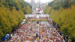 Marathonläufer als Flüssigkeit