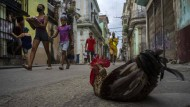 Straßenszene in Havanna im Oktober
