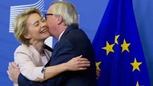 Juncker begrüßt seine mögliche Nachfolgerin