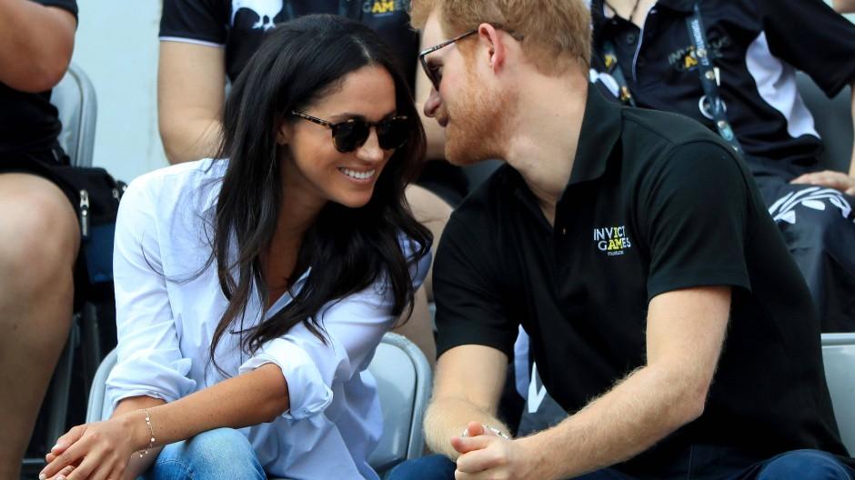 Erstmals zeigten sich die Verliebten 2017 gemeinsam in der Öffentlichkeit: Das Paar besucht gemeinsam in Toronto die Invictus Games.