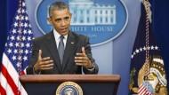 Selbstkritisch in Bezug auf seine Libyen-Politik: der scheidende amerikanische Präsident Barack Obama