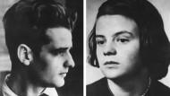 Am 22. Februar 1943 wurden Hans (links) und Sophie Scholl zusammen mit Christoph Probst hingerichtet.