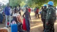 Krieg in Ostafrika: In dem jüngsten Staat der Erde befinden sich 13.500 UN-Blauhelme.