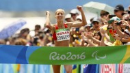 Jubel von allen Seiten: Die Spanierin Congost gewinnt Gold im Marathon