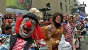 Wetter spielt mit beim Karneval in Köln