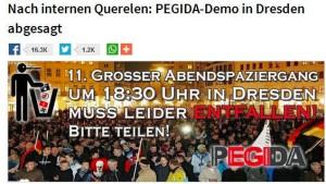 Satiremagazin stiftet Verwirrung um Pegida-Demonstation
