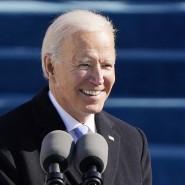 Der neue amerikanische Präsident Joe Biden am Mittwoch bei seiner Amtseinführung in Washington